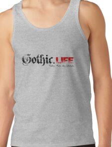 Gothic.Life Logo (White with tag) T-Shirt