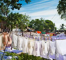 India, Drying linen by merlouille