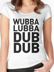 Wubbalubbadubdub Funny Women's Fitted Scoop T-Shirt