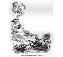 Achille Sirouy Mark Twain Les Aventures de Huck Huckleberry Finn illustration p135 Poster