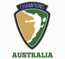 rugby player kicking ball champions Australia by patrimonio