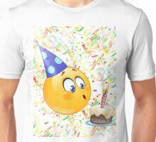 happy birthday emoji Unisex T-Shirt