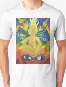 Stained Glass Yoga Meditation Unisex T-Shirt