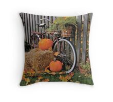 Autumn Bicycle Throw Pillow