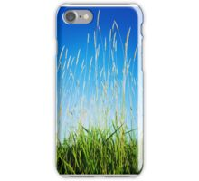 Tall Grasses Blue Sky iPhone Case/Skin