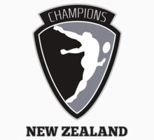 rugby player kicking ball champions New Zealand by patrimonio