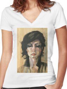 Cherie Women's Fitted V-Neck T-Shirt