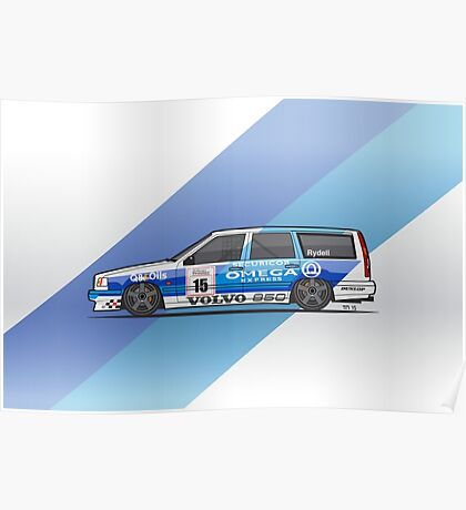 BTCC Volvo 850 TWR Wagon Race Car Poster