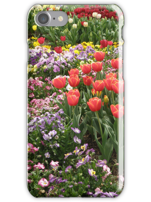 Tulips and Pansies (iPhone case) by CapturedByKylie