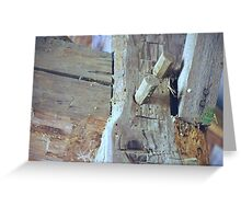 Old Style Beams in Barn Greeting Card
