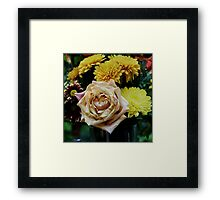 Bouquet with Rose Framed Print