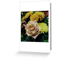 Bouquet with Rose Greeting Card