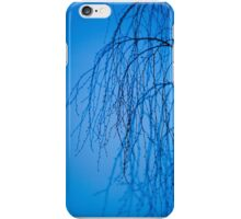 Delicate Tree Silhouette Blue iPhone Case/Skin