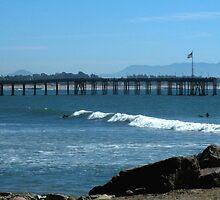 """Ocean, Surf & Pier""  Ventura, California by waddleudo"