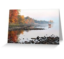 Fall Morning on the Ottawa River Greeting Card
