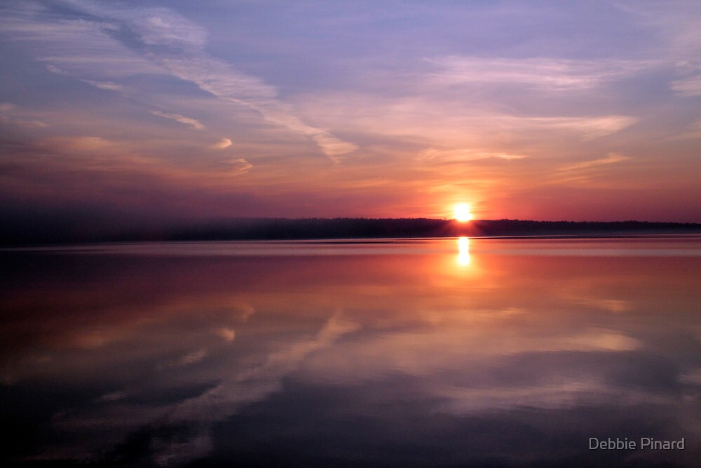 Sunrise on the Ottawa, Dunrobin Ontario by Debbie Pinard