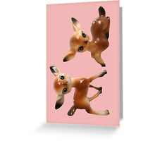 Vintage deers Greeting Card