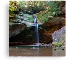 Lower Falls, Old Man's Cave, Hocking Hills State Park Canvas Print