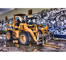 Two Dozers & an Art Wall Photographic Print