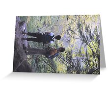 The Hikers View Greeting Card