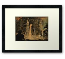 Wathing the Geyser 2 Framed Print