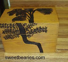 Woodburning Trees On A Box by Bearie23