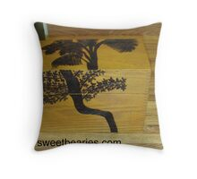 Woodburning Trees On A Box Throw Pillow