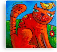Ginger and the Lovebird 2 Canvas Print
