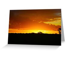 Sunset in Outback Australia Greeting Card