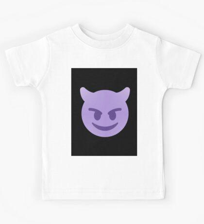 purple devil emoji Kids Tee