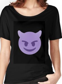 purple devil emoji Women's Relaxed Fit T-Shirt