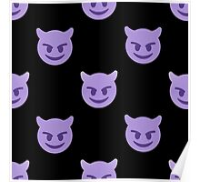 purple devil emoji Poster