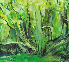 Flowing Green by John Fish