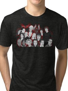 Angel character collage  Tri-blend T-Shirt