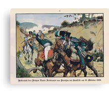 Richard Knötel Heldentod der Prinzen Louis Ferdinand bei Saalfeld Canvas Print