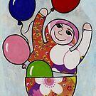 Babushka with Balloons by Kelly Gatchell Hartley
