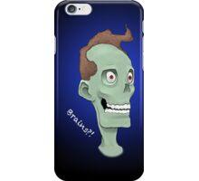 Zombie Brains- Blue iPhone Case/Skin