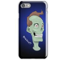 Zombie Brains- Blue iPhone Case/Skin