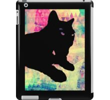 Pink Geo Kitty iPad Case/Skin