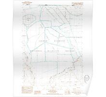 USGS Topo Map California Lower Klamath Lake 292604 1985 24000 Poster