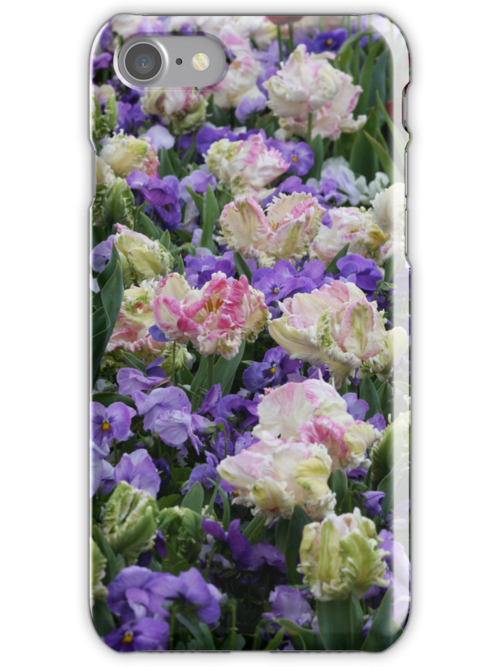 Purple Tulips Iphone Cover by Kelly Robinson