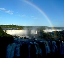 rainbow at Iguassu Falls by supergold