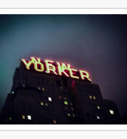 New Yorker Nights Sticker