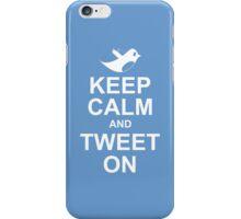 keep calm and tweet on iPhone Case/Skin