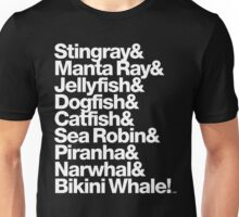 B-52's Stingray & Bikini Whale! Rock Lobster Threads Unisex T-Shirt