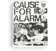 cause for alarm 97a rad ten yard fight show flyer Canvas Print