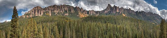 Turret Ridge from Owl Creek Pass Road by rjcolby