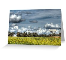 Canola & Clouds Greeting Card