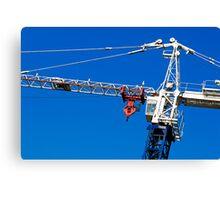 Construction crane Canvas Print