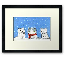 Snow Cats Framed Print